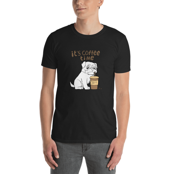 It's coffee time054 Gildan 64000 Unisex Softstyle T-Shirt with Tear Away Label