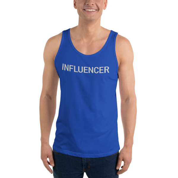 Influencer0183 Bella + Canvas 3480 Unisex Jersey Tank with Tear Away Label added