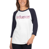 Influencer009 Tultex 245 Unisex Fine Jersey Raglan Tee w/ Tear Away Label