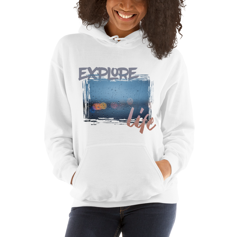 Explore Life001 Gildan 18500 Unisex Heavy Blend Hooded Sweatshirt