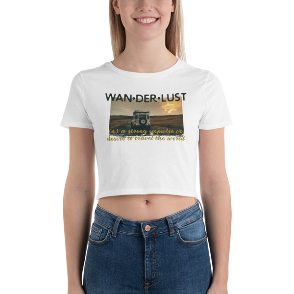 Wanderlust041 Bella + Canvas 6681 Women's Crop Tee Tight fit