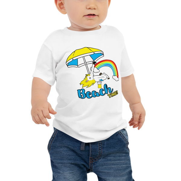 It's Beach Time02 Baby Jersey Short Sleeve Tee