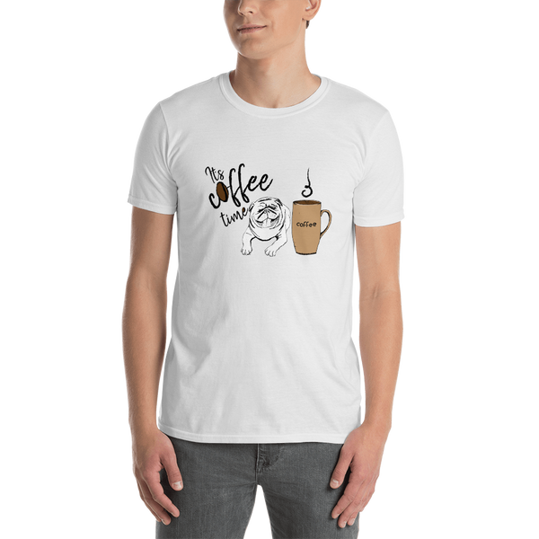 It's coffee time055 Gildan 64000 Unisex Softstyle T-Shirt with Tear Away Label