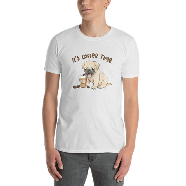 It's coffee time053 Gildan 64000 Unisex Softstyle T-Shirt with Tear Away Label