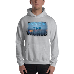 Explore The World0028 Hoodie Gildan 18500 Unisex Heavy Blend Hooded Sweatshirt