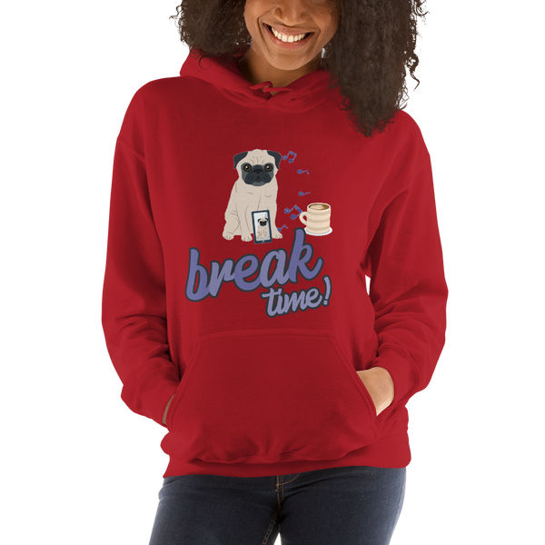 It's Break Time001 Gildan 18500 Unisex Heavy Blend Hooded Sweatshirt
