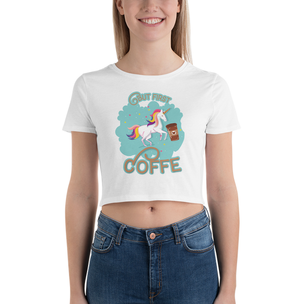 Its Coffee Time065 Women's Crop Tee