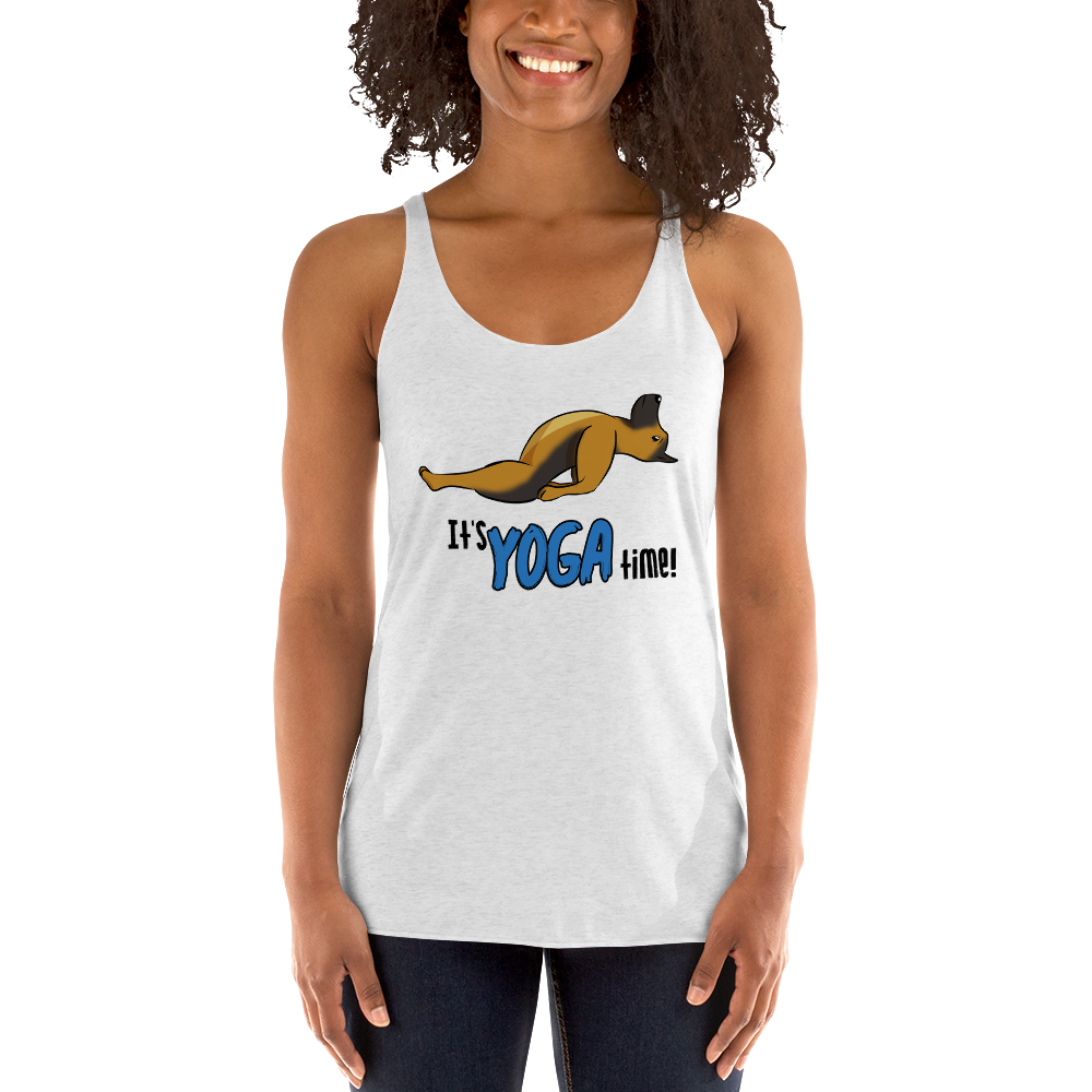 It's Yoga Time017 Next Level 6733 Ladies' Triblend Racerback Tank