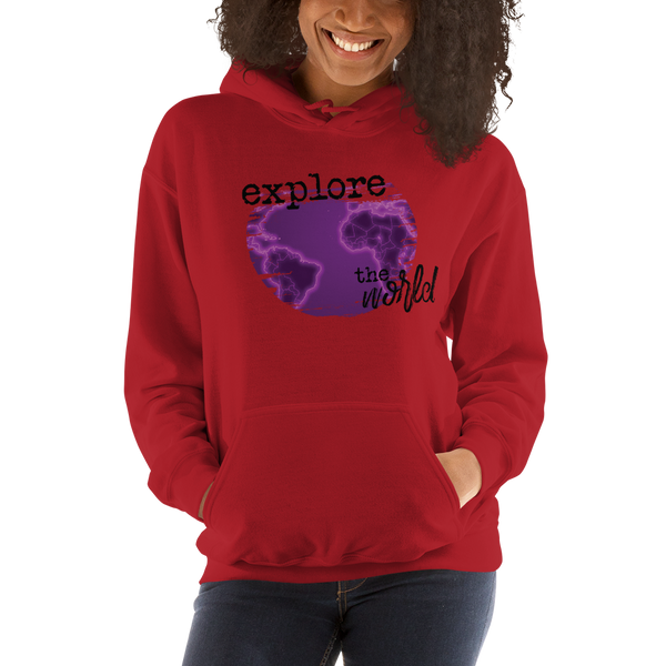 Explore The World0029 Gildan 18500 Unisex Heavy Blend Hooded Sweatshirt