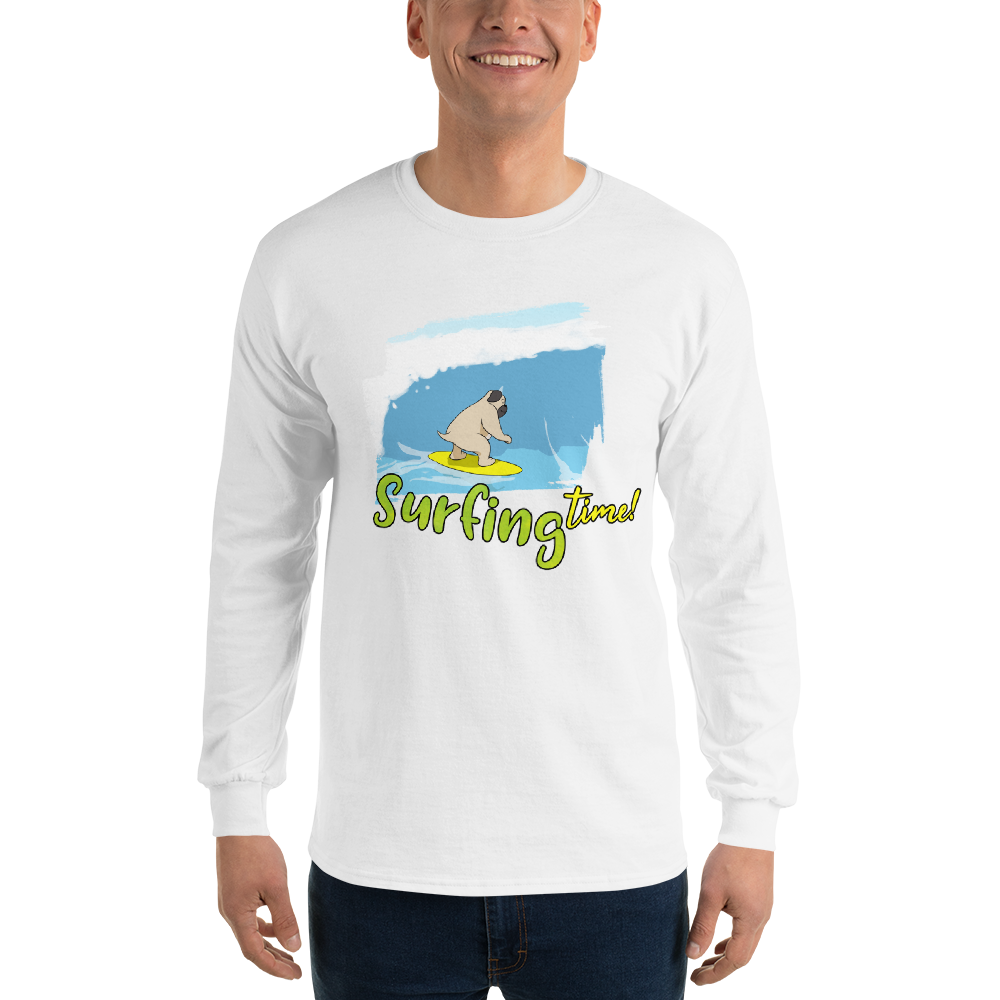 It's Surfing Time02 Gildan 2400 Ultra Cotton Long Sleeve T-Shirt