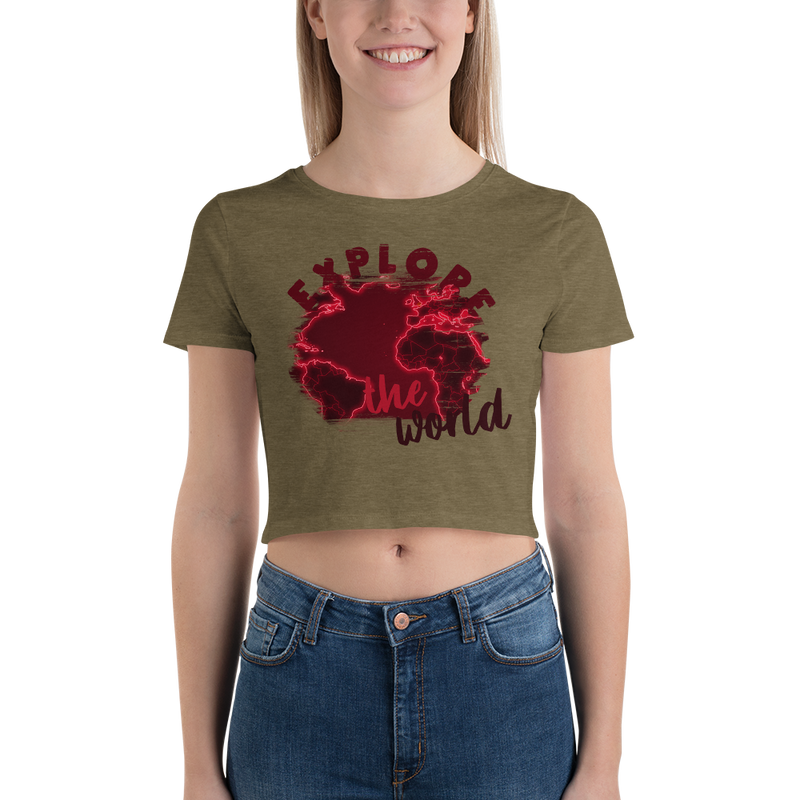 Explore The World0016 Bella + Canvas 6681 Women's Crop Tee Tight fit