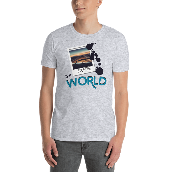 Explore The World0024 Gildan 64000 Unisex Softstyle T-Shirt with Tear Away Label