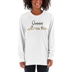 It's Yoga Time044 American Apparel 2007 Unisex Fine Jersey Long Sleeve T-Shirt Comfy style