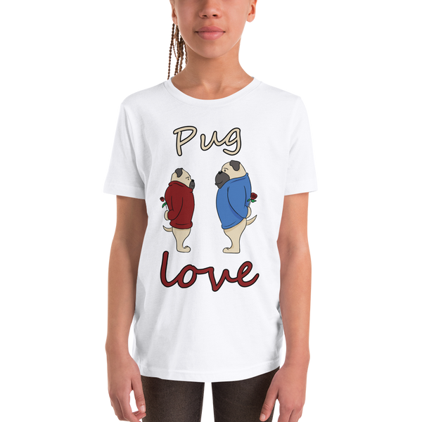 Pug Luv08 Youth Short Sleeve T-Shirt