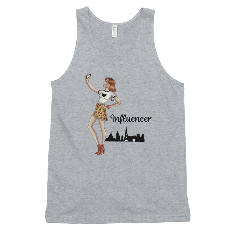 Influencer007 American Apparel 2408 Fine Jersey Tank Top Unisex
