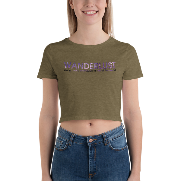 Wanderlust49 Bella + Canvas 6681 Women's Crop Tee Tight fit