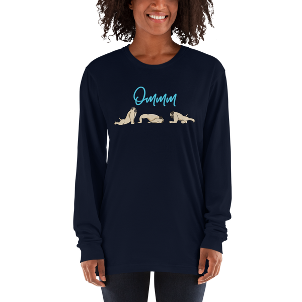 It's Yoga Time030 American Apparel 2007 Unisex Fine Jersey Long Sleeve T-Shirt Comfy style