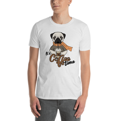 It's coffee time031 Gildan 64000 Unisex Softstyle T-Shirt with Tear Away Label