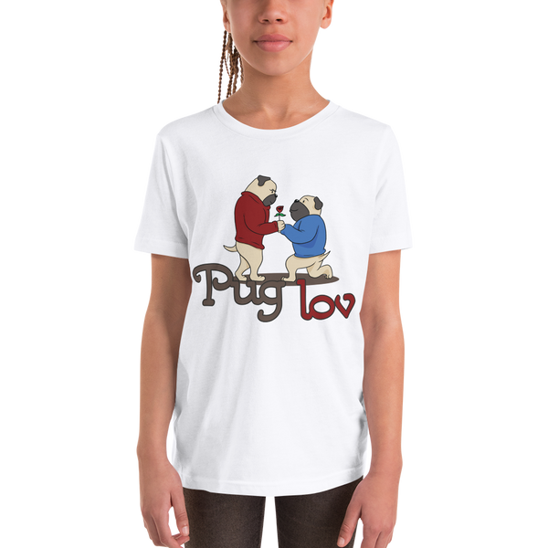 Pug Luv04 Youth Short Sleeve T-Shirt