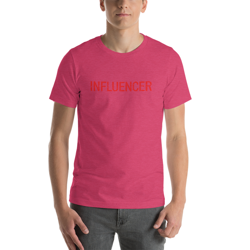 Influencer00177 Bella + Canvas 3001 Unisex Short Sleeve Jersey T-Shirt with Tear Away Label