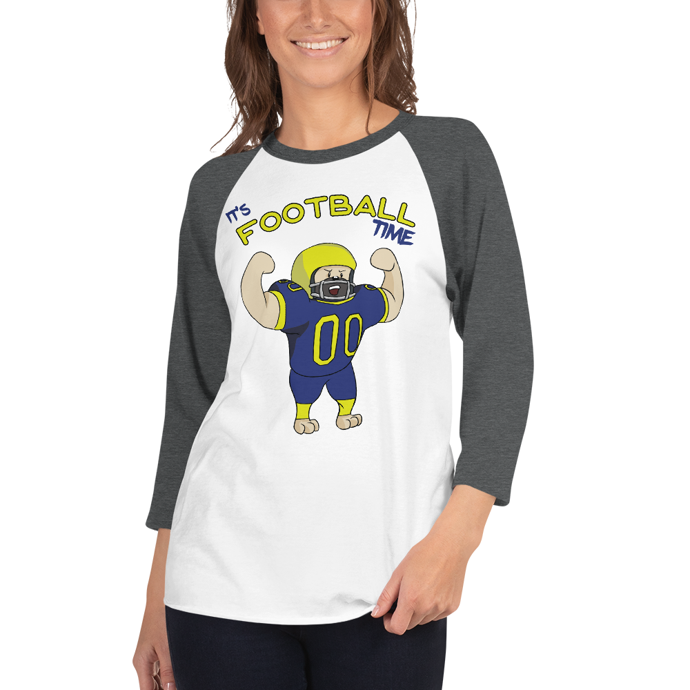 It's Football Time09 Tultex 245 Unisex Fine Jersey Raglan Tee w/ Tear Away Label