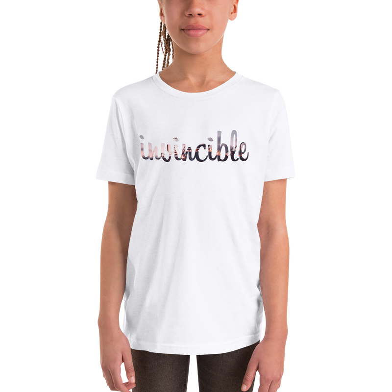 Invincible019 Bella + Canvas 3001Y Youth Short Sleeve Tee with Tear Away Label