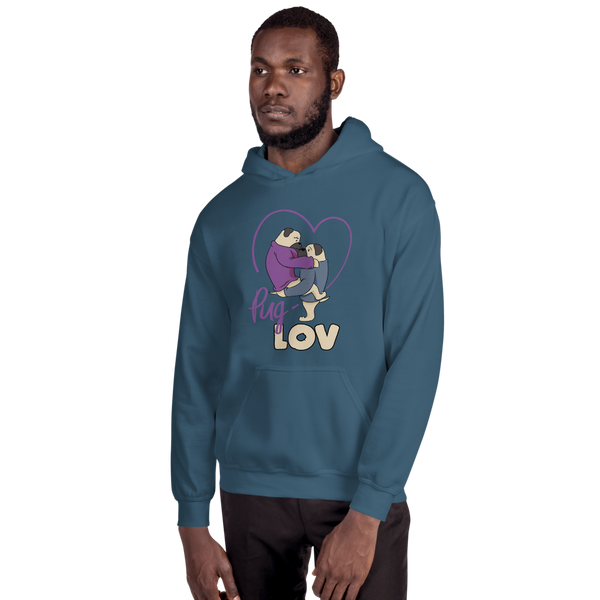 Pug Love11 Gildan 18500 Unisex Heavy Blend Hooded Sweatshirt