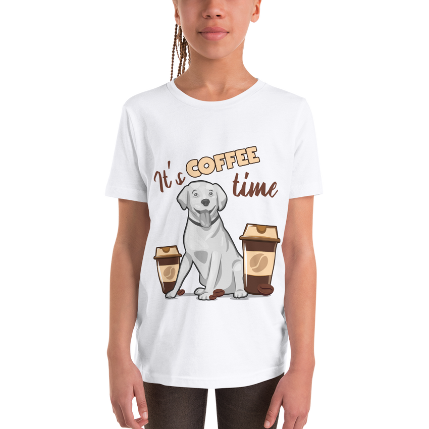 Its Coffee Time42 Youth Short Sleeve T-Shirt