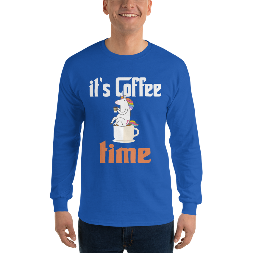 It's Coffee Time007 Gildan 2400 Ultra Cotton Long Sleeve T-Shirt