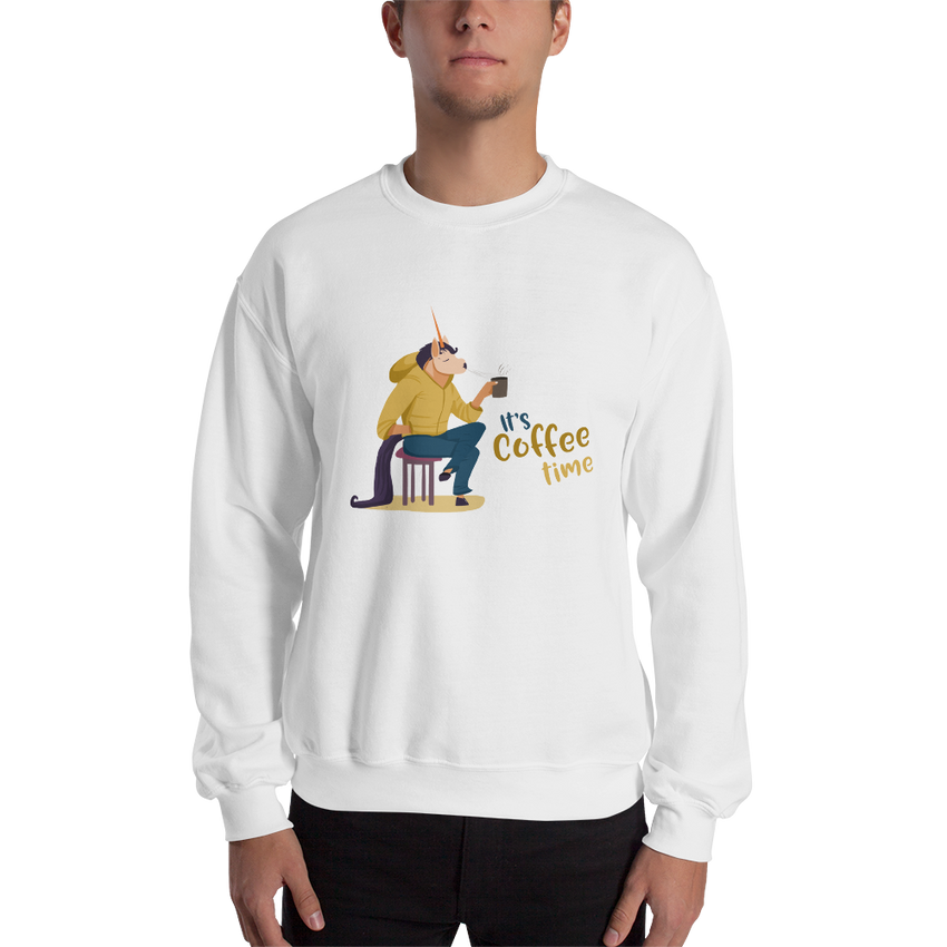 It's Coffee Time062 Gildan 18000 Unisex Heavy Blend Crewneck Sweatshirt