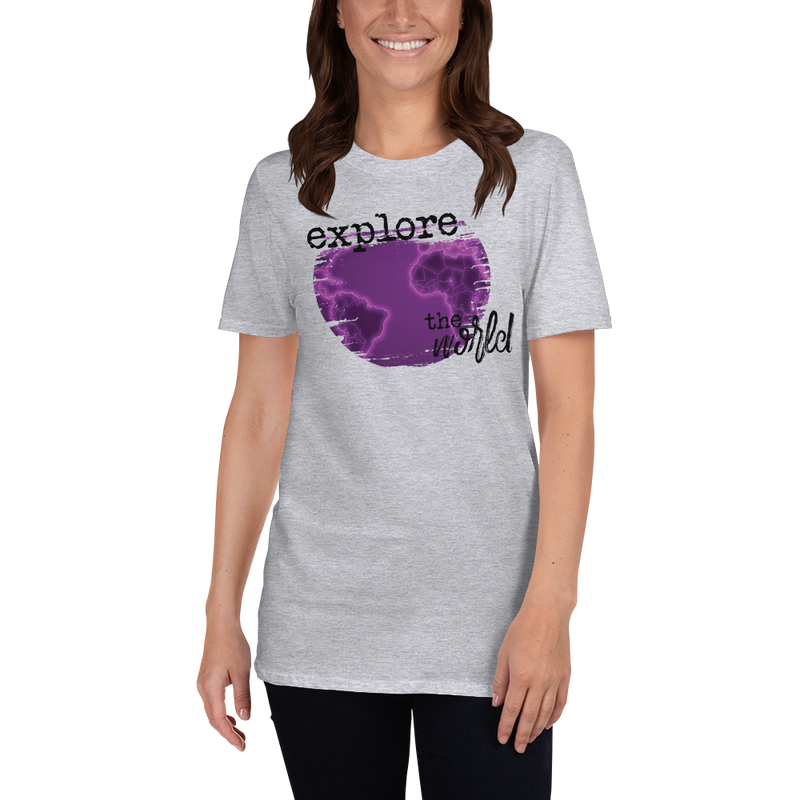 Explore The World0029 Gildan 64000 Unisex Softstyle T-Shirt with Tear Away Label