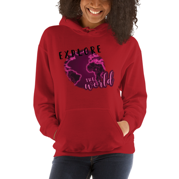 Explore The World0027 Gildan 18500 Unisex Heavy Blend Hooded Sweatshirt