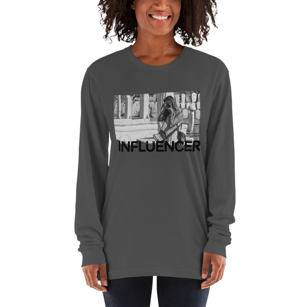 Influencer53 American Apparel 2007 Unisex Fine Jersey Long Sleeve T-Shirt Comfy style
