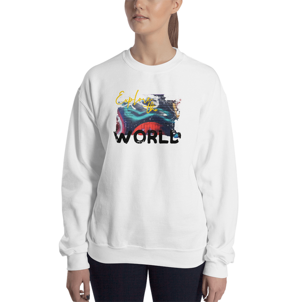 Explore The World0019 Gildan 18000 Unisex Heavy Blend Crewneck Sweatshirt