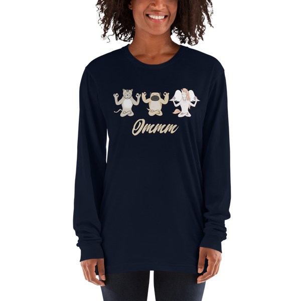 It's Yoga Time038 American Apparel 2007 Unisex Fine Jersey Long Sleeve T-Shirt Comfy style