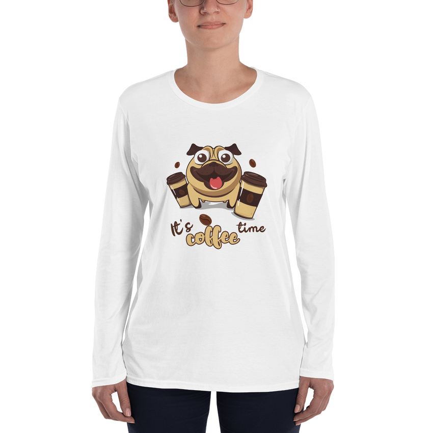 Its Coffee Time013 Ladies' Long Sleeve T-Shirt