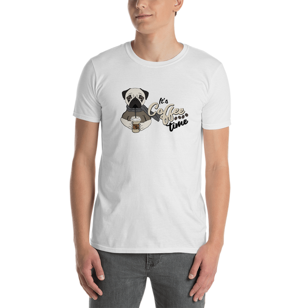 It's coffee time017 Gildan 64000 Unisex Softstyle T-Shirt with Tear Away Label