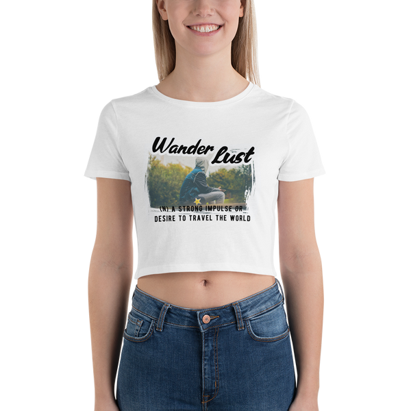 Wanderlust24 Bella + Canvas 6681 Women's Crop Tee Tight fit