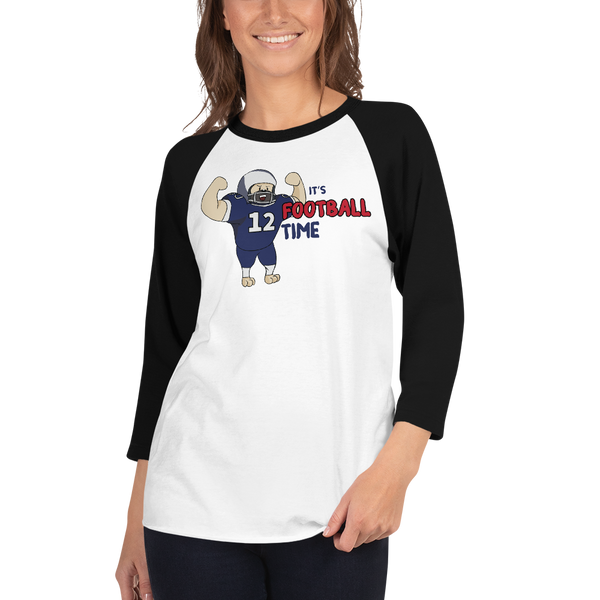 It's Football Time04 Tultex 245 Unisex Fine Jersey Raglan Tee w/ Tear Away Label