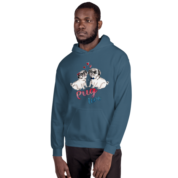 Pug Love02 Gildan 18500 Unisex Heavy Blend Hooded Sweatshirt