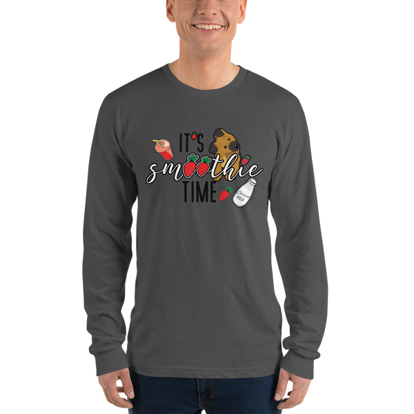 It's smoothie time06 Gildan 2400 Ultra Cotton Long Sleeve T-Shirt