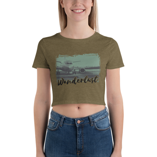 Wanderlust45 Bella + Canvas 6681 Women's Crop Tee Tight fit