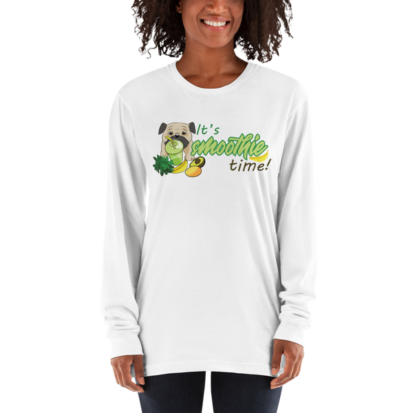 It's smoothie time10 American Apparel 2007 Unisex Fine Jersey Long Sleeve T-Shirt Comfy style