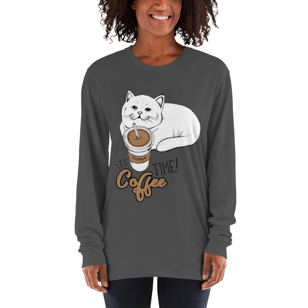 Its Coffee Time03 American Apparel 2007 Unisex Fine Jersey Long Sleeve T-Shirt Comfy style