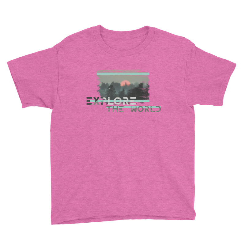 Explire The World0021 Anvil 990B Youth Lightweight Fashion T-Shirt with Tear Away Label