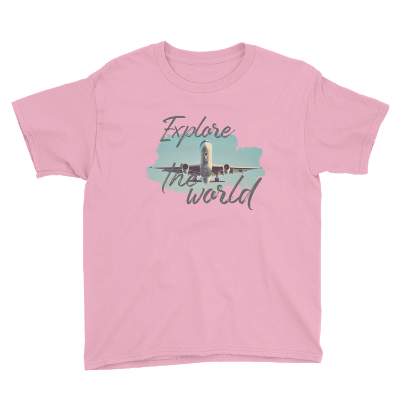 Explore The World001 Anvil 990B Youth Lightweight Fashion T-Shirt with Tear Away Label