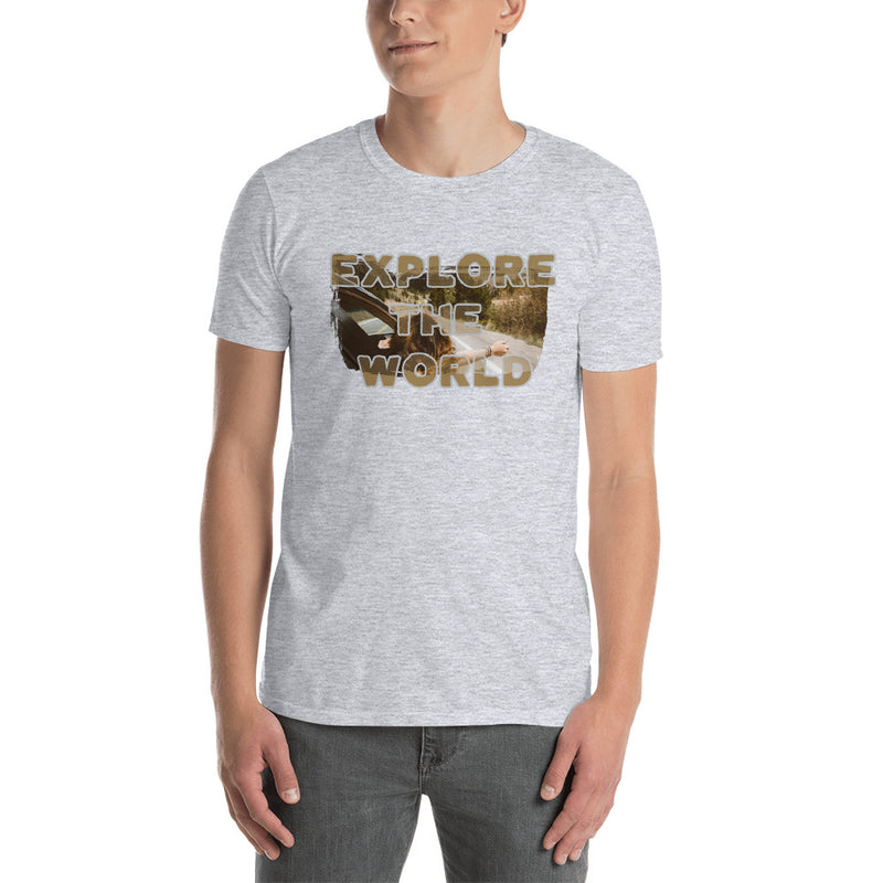 Explore The world008Gildan 64000 Unisex Softstyle T-Shirt with Tear Away Label - libitalux