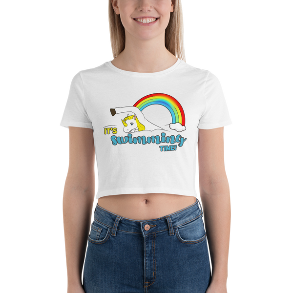It's Swimming time! Women Crop Tops