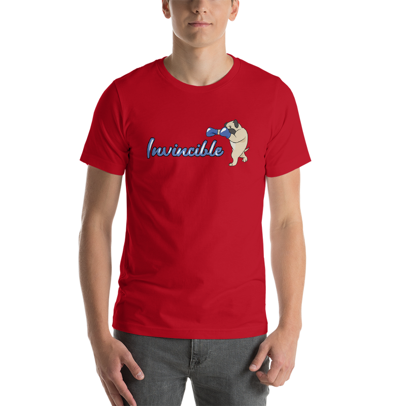 Invincible004 Bella + Canvas 3001 Unisex Short Sleeve Jersey T-Shirt with Tear Away Label