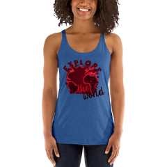Explore The World0016 Next Level 6733 Ladies' Triblend Racerback Tank